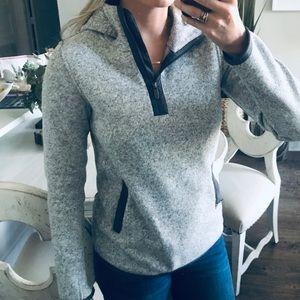 Lululemon Two Toned Grey Quarter Zip Pullover